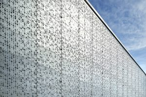 Steel perforated facade