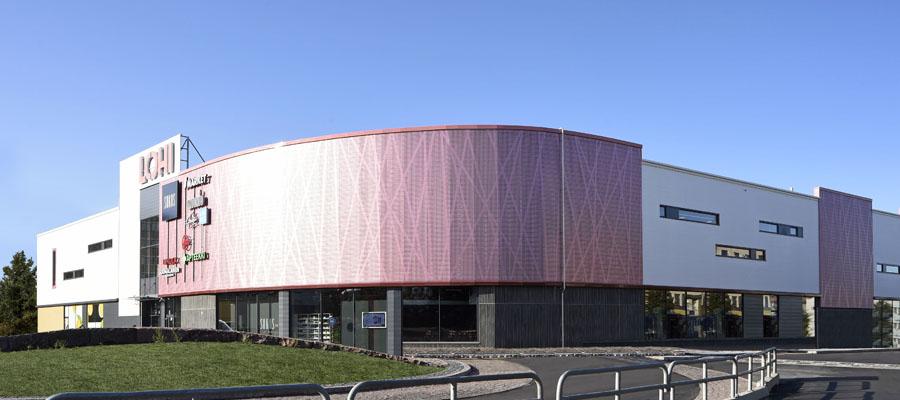 фасад с перфорацией