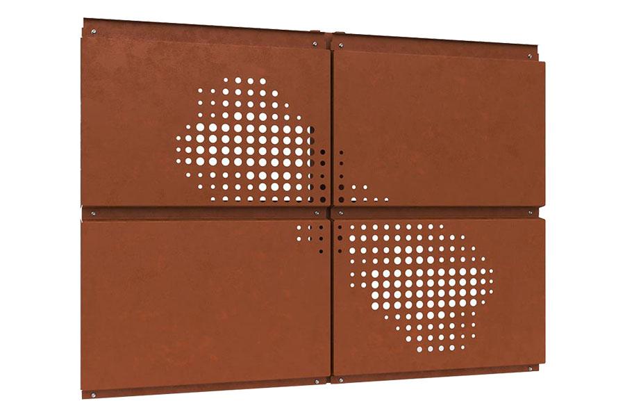 фасадные кассеты Ruukki Кортен с перфорацией