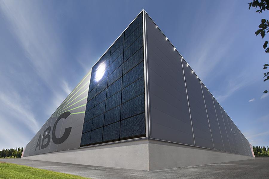 солнечные панели, фасад