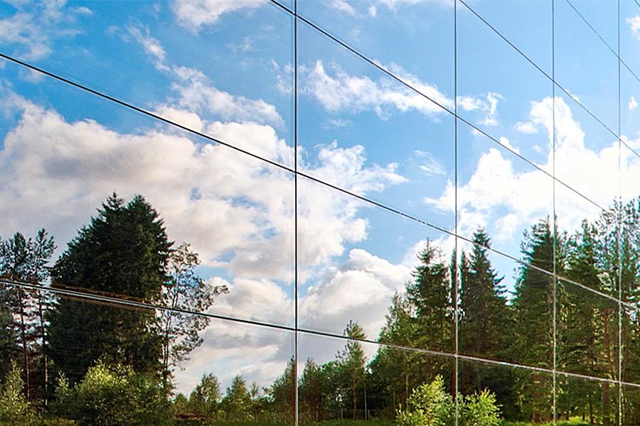 фасадные кассеты из стекла