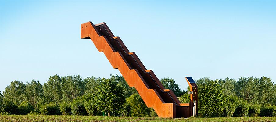 Башня Vlooyberg, Бельгия, листы Cor-ten