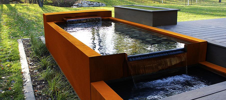 бассейн из кортен