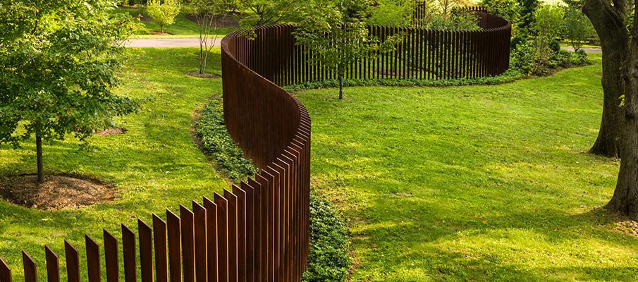 забор из кортен