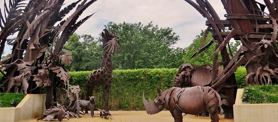 скульптура из кортен