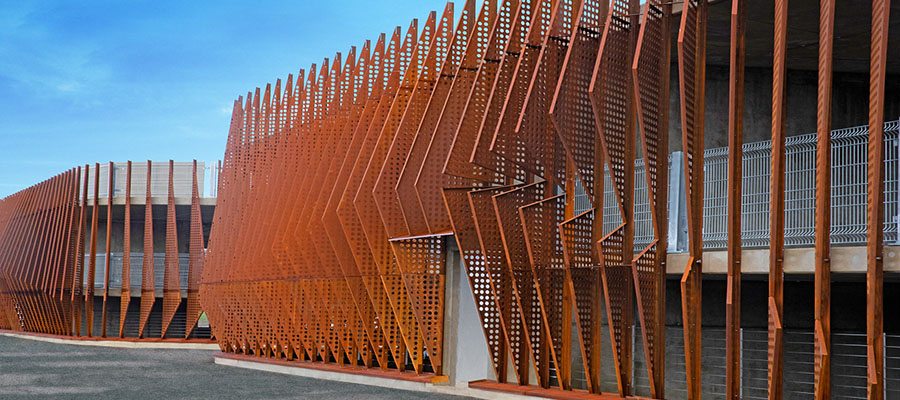 фасад сталь Кортен
