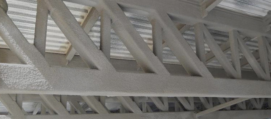 Fireproofing of steel structures