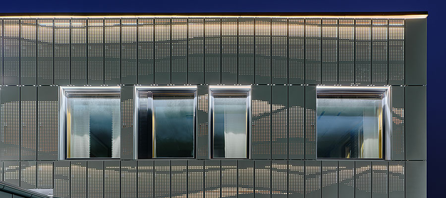 Фасадные кассеты с перфорацией
