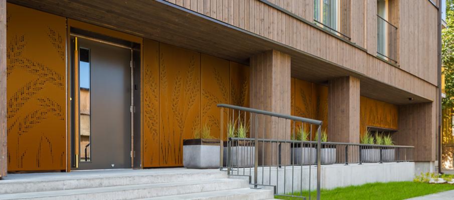 Ruukki Cor-ten façade