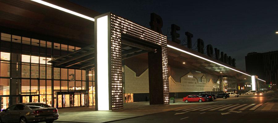 фасад с подсветкой