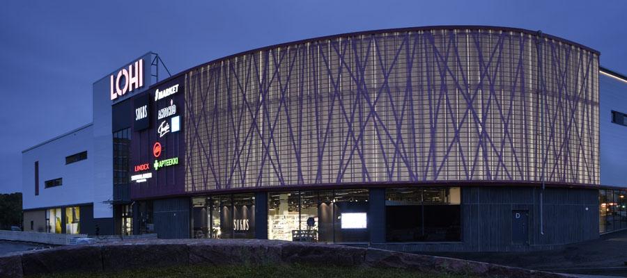Фасадні ламелі Ruukki з перфорацією