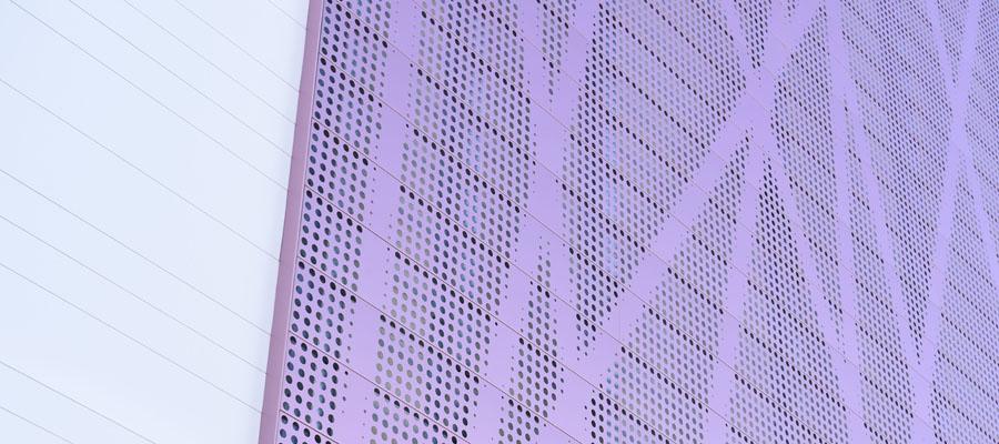 Фасадные ламели Ruukki с перфорацией