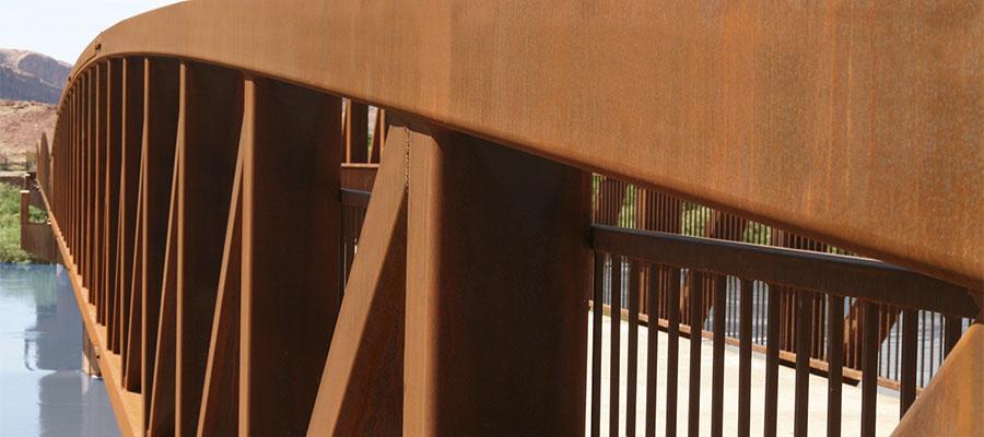 Pedestrian bridge Cor-ten