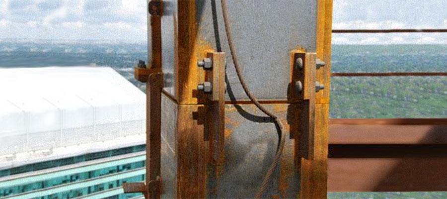 Крепление конструкций каркаса из стали Кортен