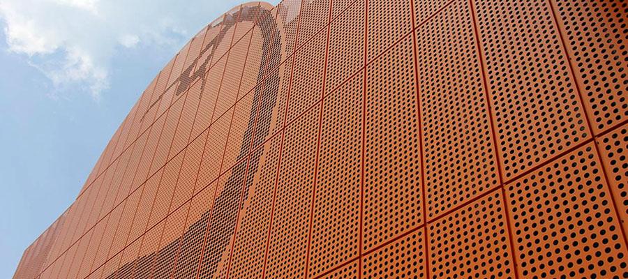 вентилируемый фасад с перфорацией