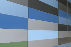 Polymer coatings for steel façades and roofs