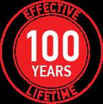 100 years lifetime