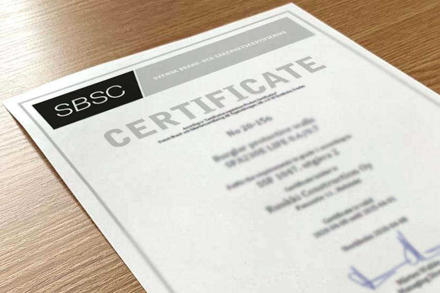 Płyty warstwowe Ruukki są certyfikowane według standardu odporności na włamanie SSF 1047