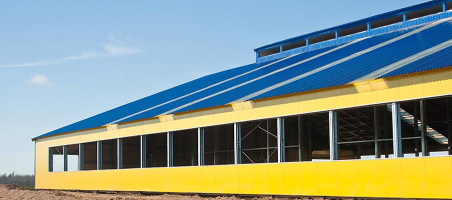 Konstrukcje ścianowe i dachowe farm mlecznych