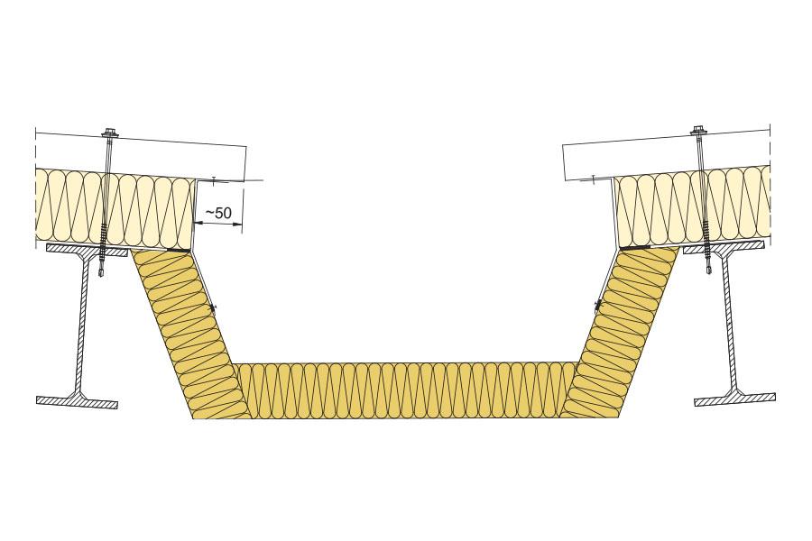 жолоб водостоку з сендвіч-панелей