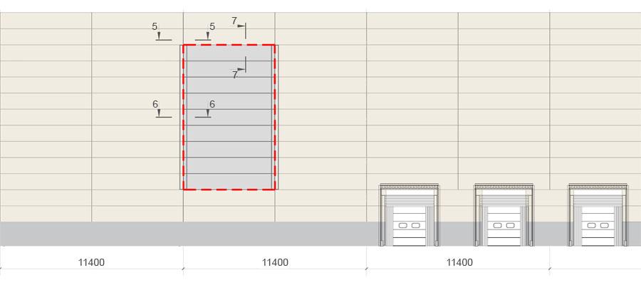 Фасад ЛСК с горизонтальными сэндвич-панелями