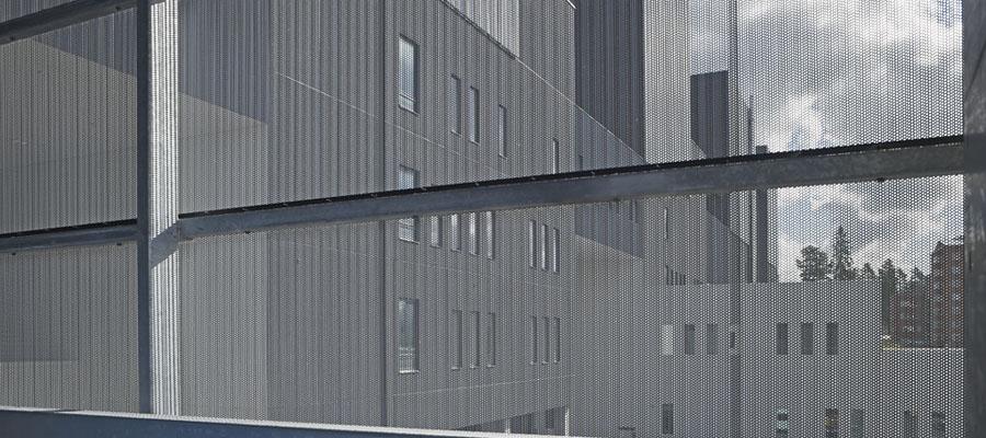 перфорированный фасад