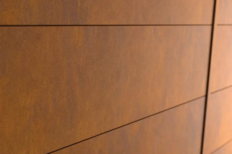 Płyty warstwowe ze stali Cor-Ten