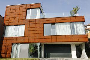 Fasada stalowa odporna na warunki atmosferyczne Cor-Ten