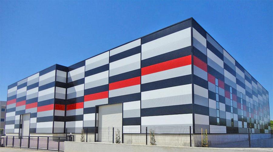 производственное здание из сэндвич-панелей